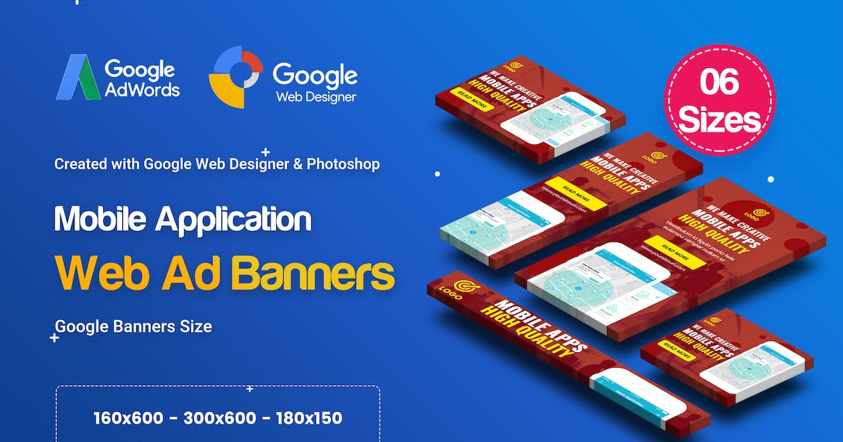 Download C57 - Mobile App Banners HTML5 Ad - GWD & PSD by iDoodle