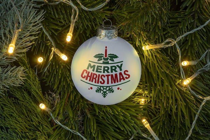 Thumbnail for Christmas ball ornament mockup