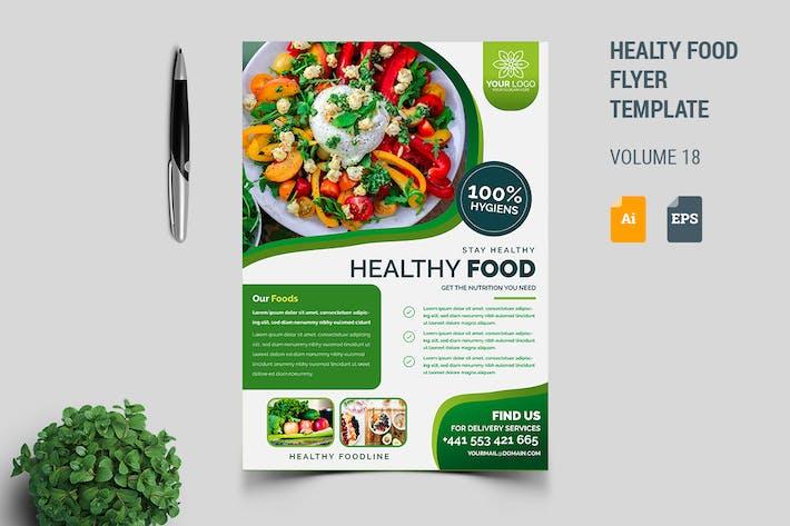 Thumbnail for Gesunde Lebensmittel Flyer Vorlage Vol. 18