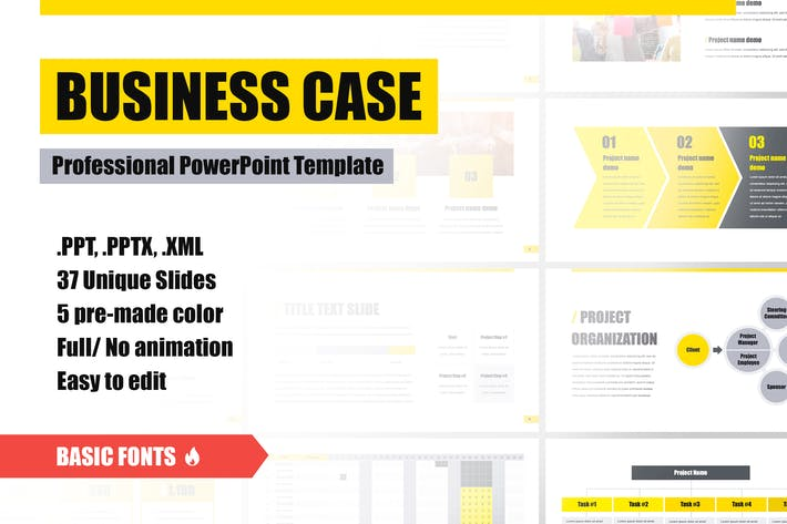 Thumbnail for Business Case PowerPoint Template