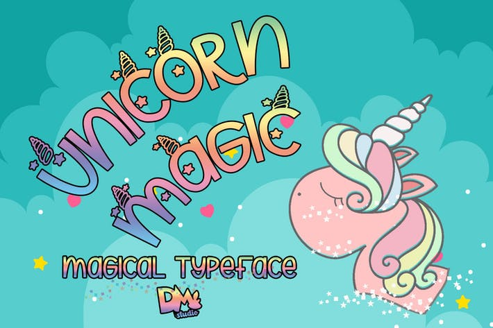 Thumbnail for Unicorn Magic - Tipografía mágica