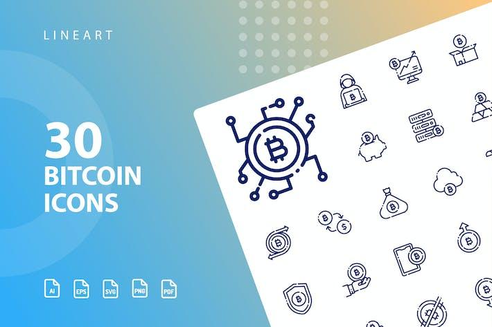 Thumbnail for Lineart de Bitcoin