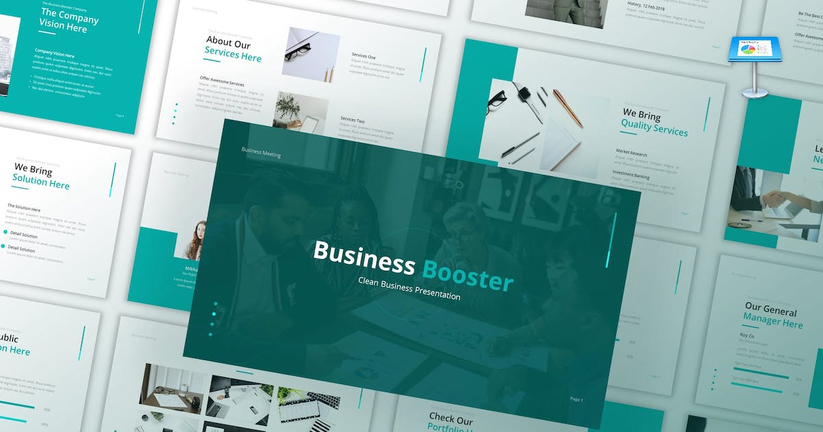 Download Business Booster - Clean Keynote Template by CocoTemplates