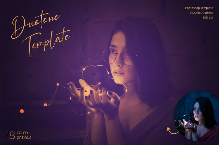 Thumbnail for Duotone Photoshop Template