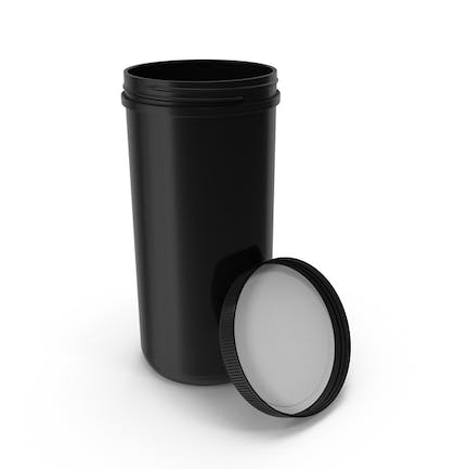 Plastic Jar Wide Mouth Straight Sided 100oz Open Black