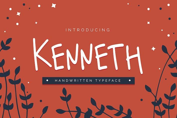 Thumbnail for Kenneth - Handwritten Typeface