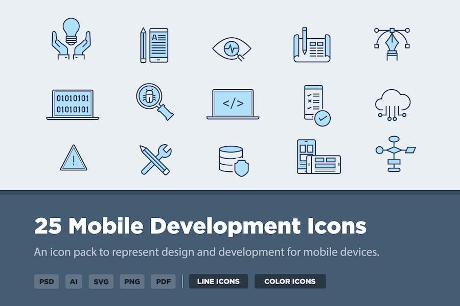 25 Mobile Development Icons