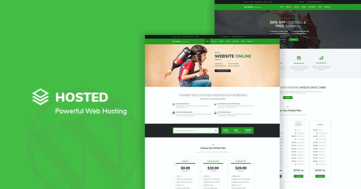 Download Hosted - Responsive WordPress Hosting Theme by OceanThemes