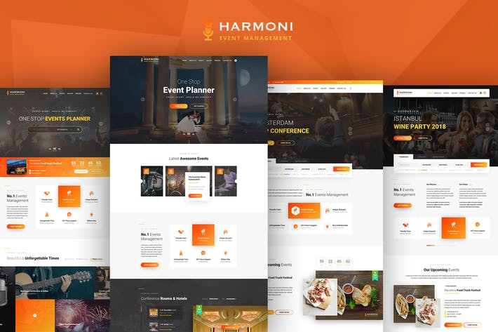 Thumbnail for Harmoni - Event Management PSD Template