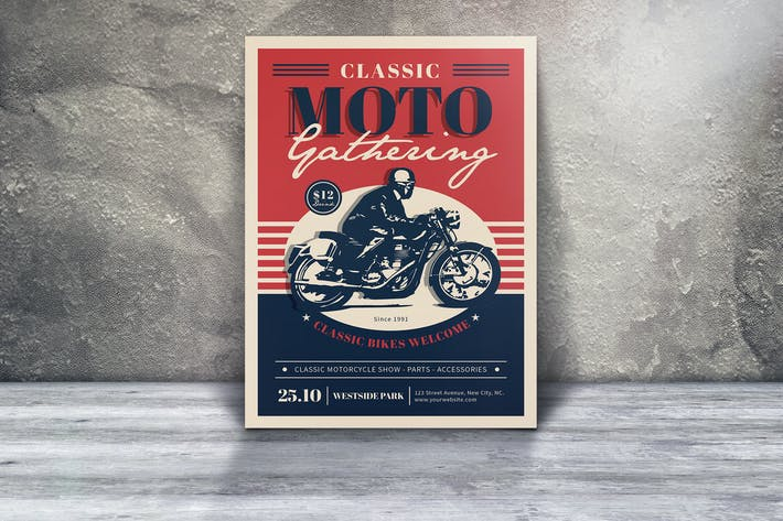 Thumbnail for Classic Moto Gathering Flyers