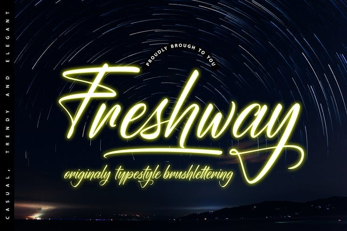 Thumbnail for Freshway Originaly typestyle Font