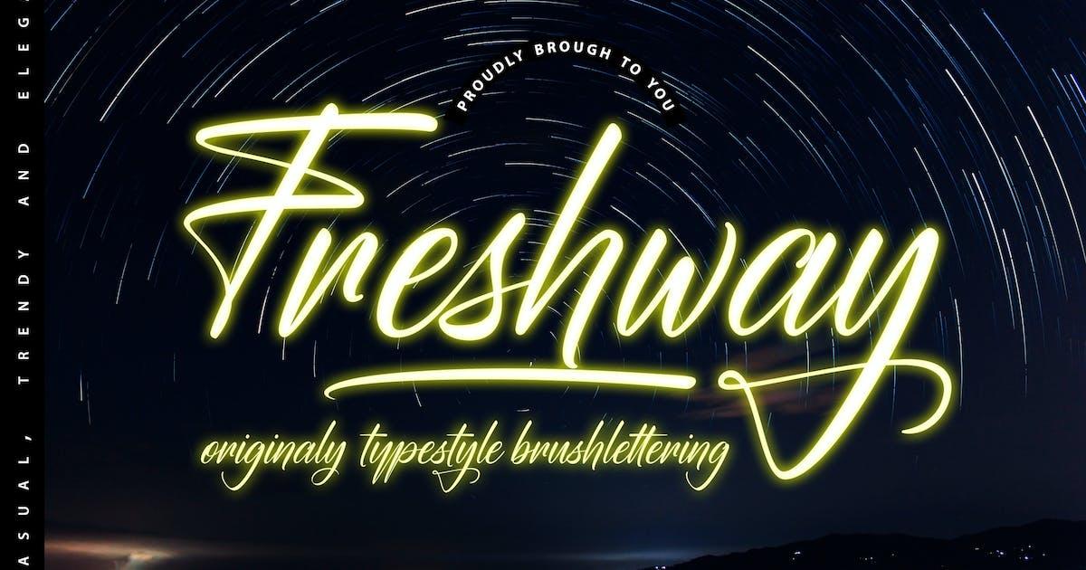 Download Freshway Originaly typestyle Font by Fannanstudio