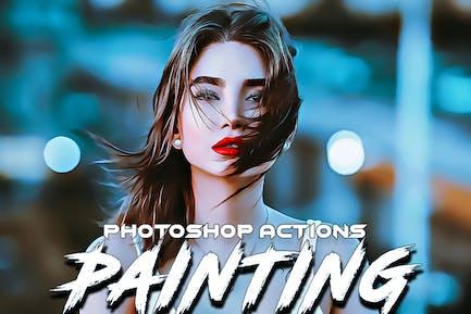 Покраска действия Photoshop