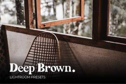Deep Brown Lightroom Presets