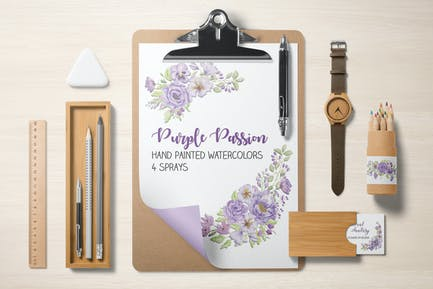 Purple Passion Watercolor Sprays
