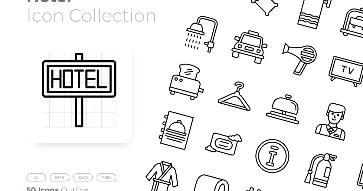 Download Hotel Outline Icon by GoodWare_Std