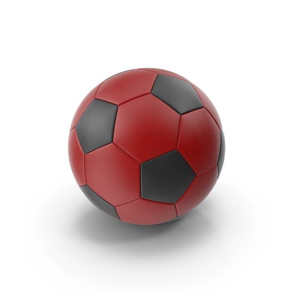 Футбольный мяч Красный Черный