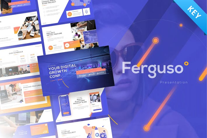 Thumbnail for Ferguso - Creative Keynote Template