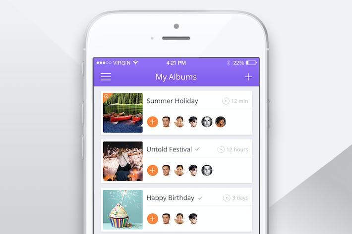 Thumbnail for Photo Album App Screen