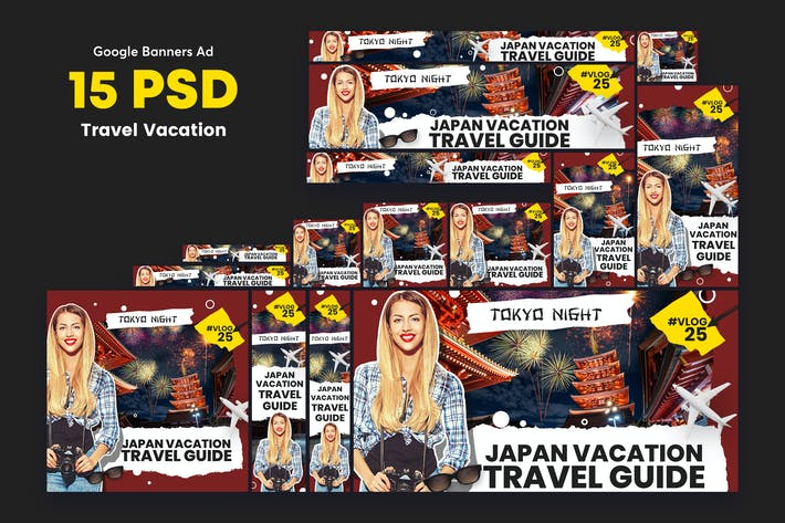 Thumbnail for Travel Vlog Banners Ad
