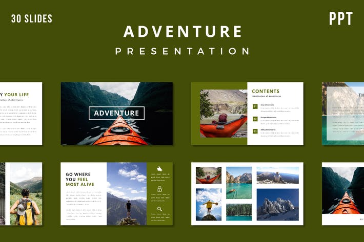 Thumbnail for Adventure Presentation Template - (PPT)