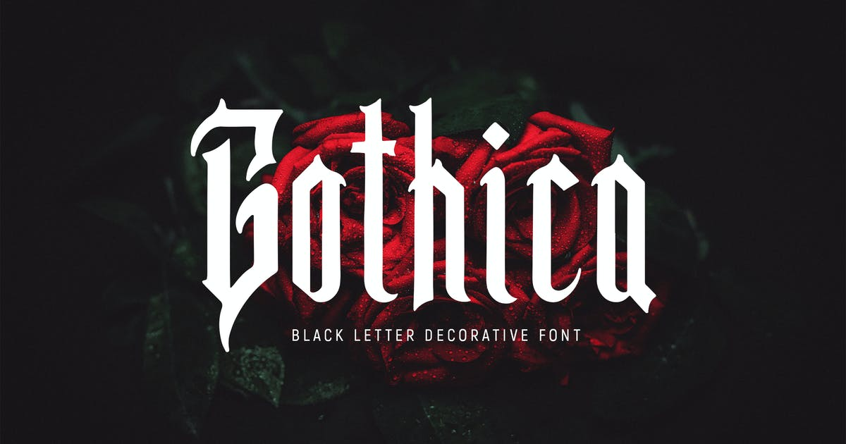 Download Gothica - Font by Blesstudio