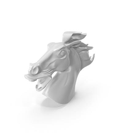 Pferdekopf-Statue