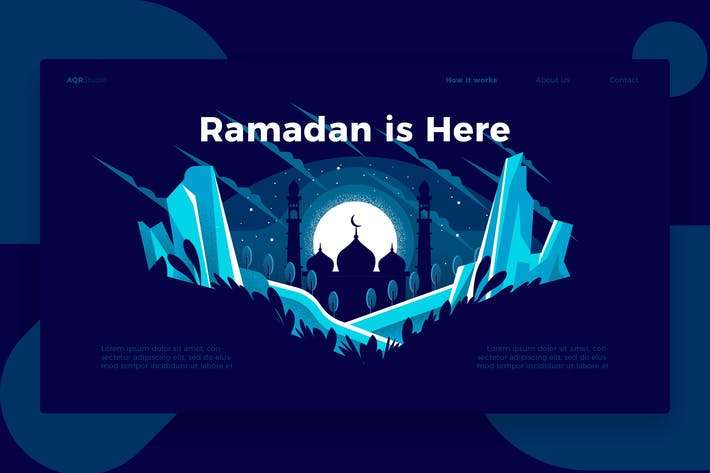 Thumbnail for Ramadan is - Banner & Landing Page