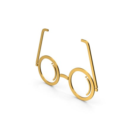 Symbol Glasses Gold