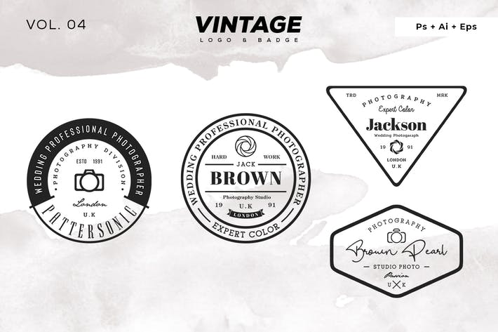 Thumbnail for Vintage Logo & Badge Vol. 4
