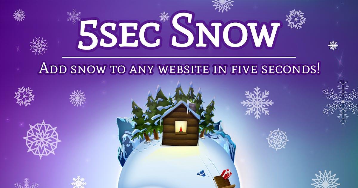 Download 5sec Snow - Christmas Joy Generator by WebFactory