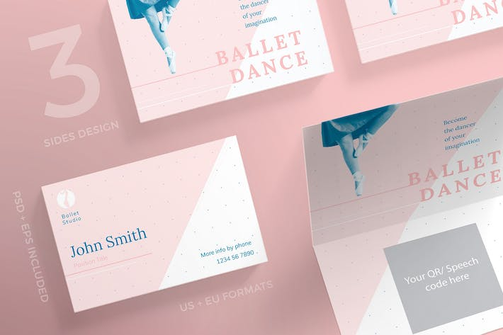 Thumbnail for Dance Studio Business Card Template