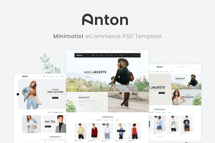 Thumbnail for Anton Minimalist - Ecommerce PSD Template