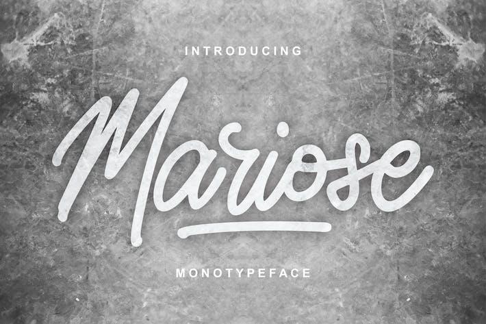 Thumbnail for Mariose | Monotypeface Script Font