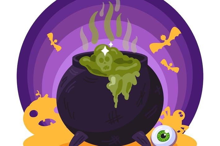 Thumbnail for Magic Potion Cauldron Illustration