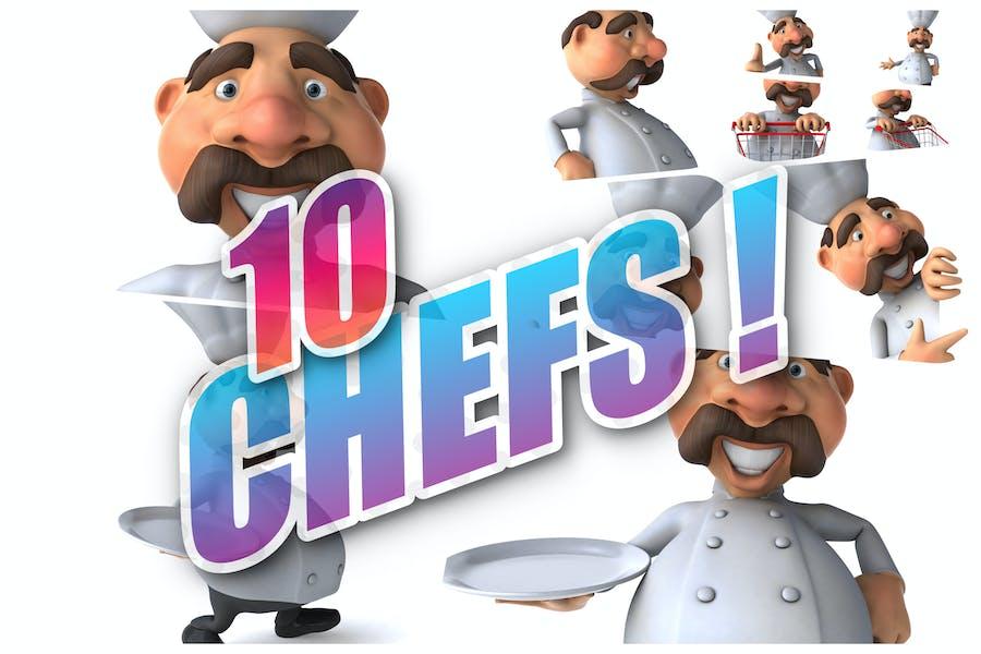 10 lustige Köche!