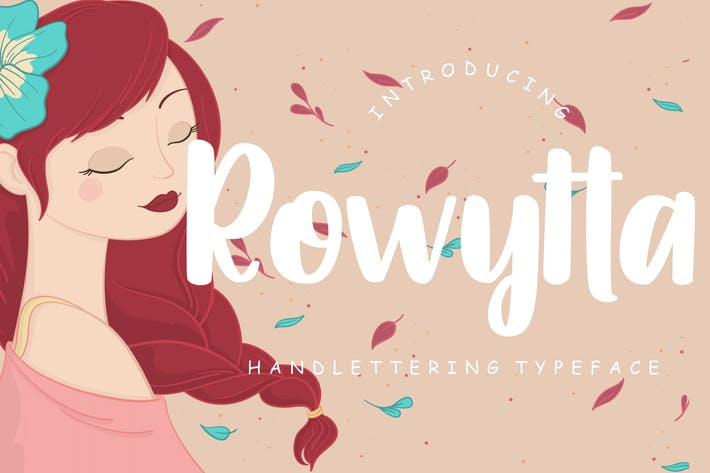 Thumbnail for Rowytta Handlettering Typeface