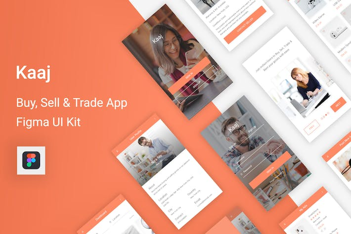 Thumbnail for Kaaj - Buy, Sell & Trade UI Kit for Figma