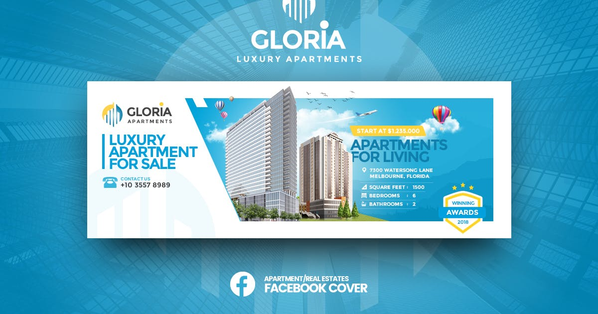 Download Gloria - Apartmens Facebook Cover Template by youwes