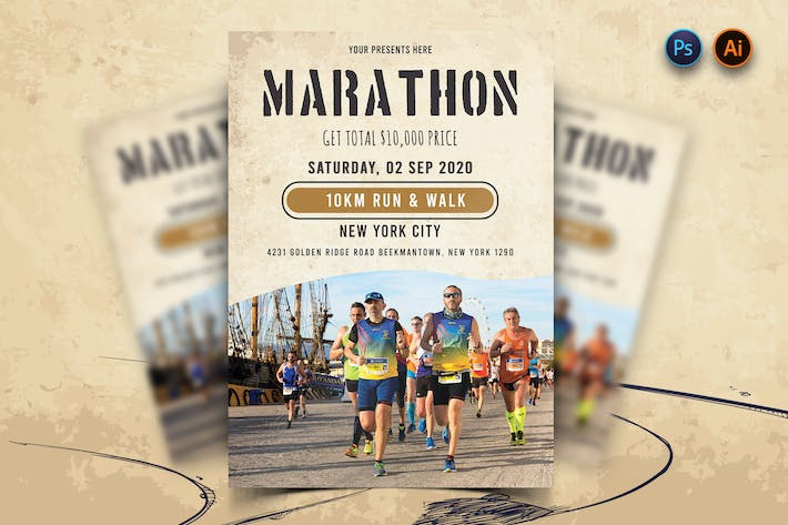 Thumbnail for Marathon Event Flyer-12