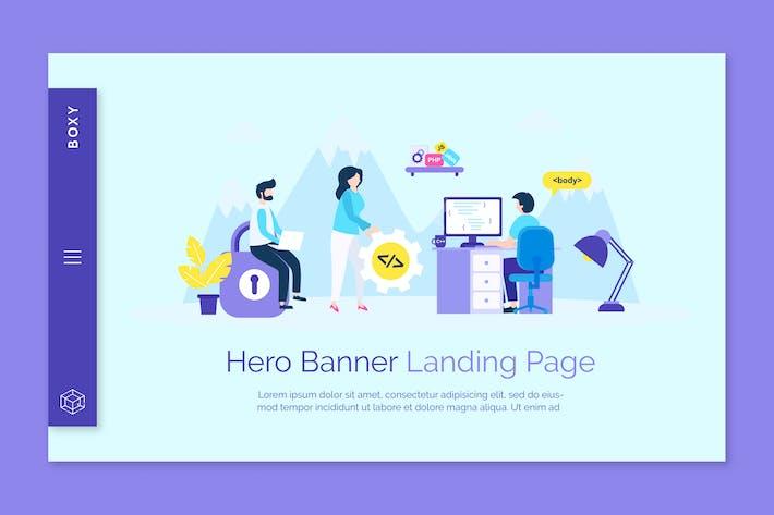 Thumbnail for Page de destination Boxy - Hero bannière
