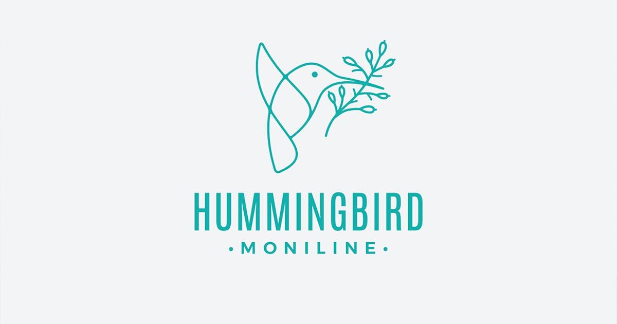 Download Hummingbird Monoline Logo Template by Mihis_Design