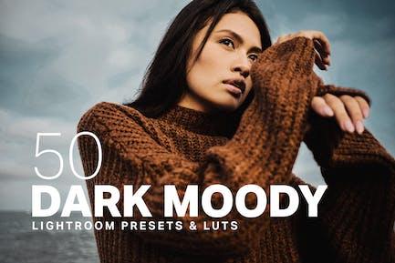 50 Dark Moody Lightroom Presets LUTs