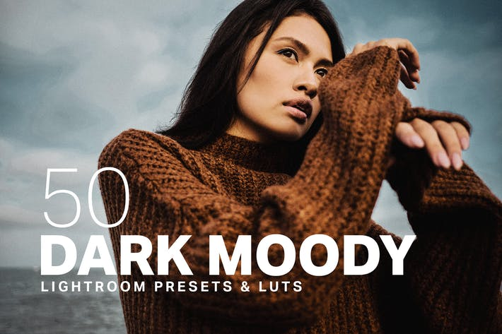 Thumbnail for 50 Dark Moody Lightroom Presets LUTs