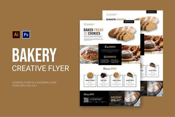 Thumbnail for Bakery - Flyer