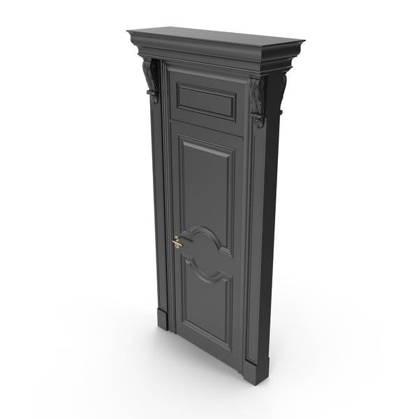 Viktorianische schwarze Tür