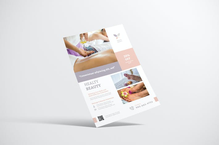 Thumbnail for Clean Beauty Spa Flyer Design