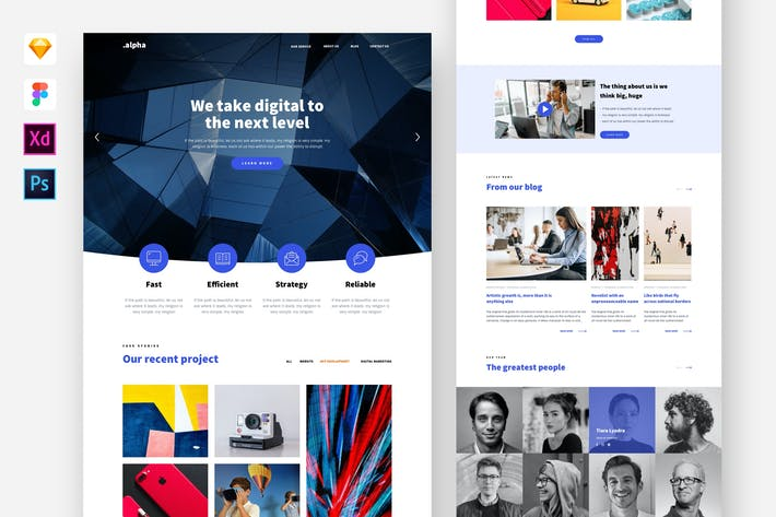 Thumbnail for Alpha - Digital Agency Website Template