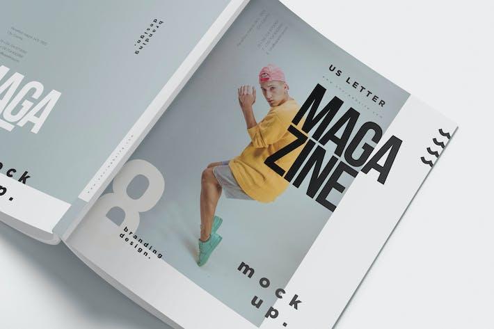 Thumbnail for 5 US Letter Size Magazine Mockups