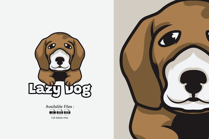 Thumbnail for Lazy Dog Logo Template